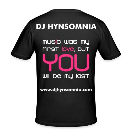 Music is my life by DJHynsomnia - T-shirt près du corps Homme