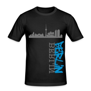 Berlin Sky T-Shirt - Männer Slim Fit T-Shirt
