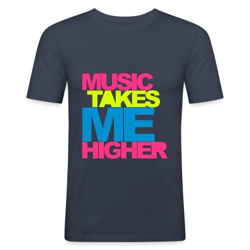 Herre T-skjorte ''Musikk t-skjorte''   Trendyshirt - Slim Fit T-skjorte for menn