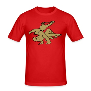 Three Monkeys - Men's Slim Fit T-Shirt