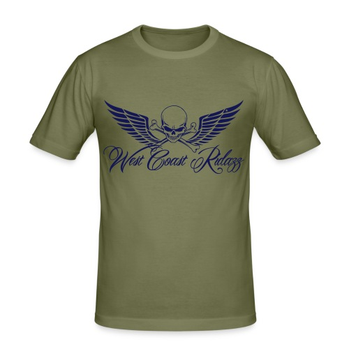 T-shirt homme skull navy - T-shirt près du corps Homme