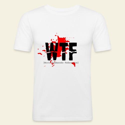 WTF World Taekwondo Federation RED  - Herre Slim Fit T-Shirt