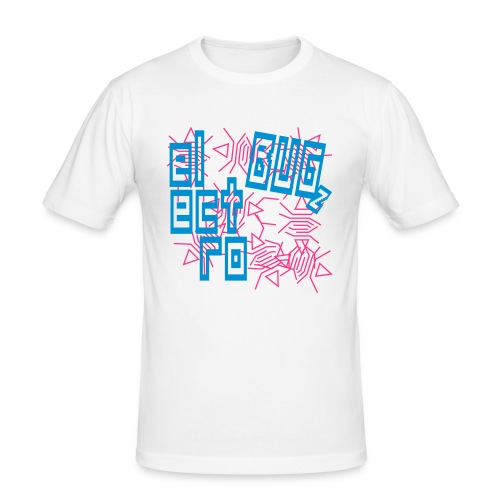 Electro Bug (Blue) - Men's Slim Fit T-Shirt