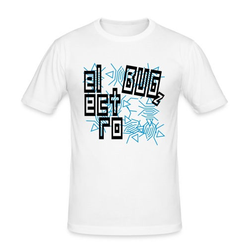 Electro Bug (Black) - Men's Slim Fit T-Shirt