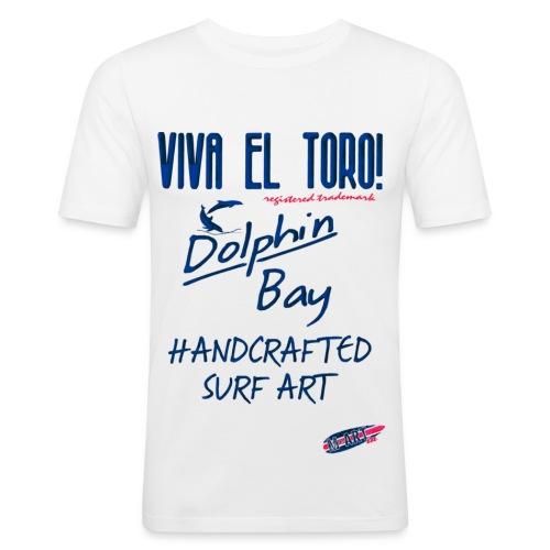 Handcrafted Surf Art. Viva El Toro per Dolphin Bay - Maglietta aderente da uomo