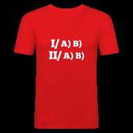 Tee shirts ~ Tee shirt près du corps Homme ~ Plan-type /H