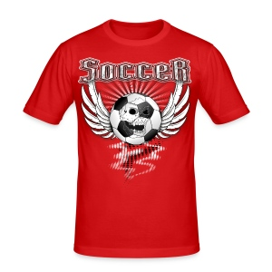 Fußball Soccer T-Shirt in American Style - Männer Slim Fit T-Shirt