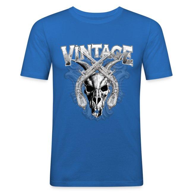 Vintage T-shirt mit Hörnerschädel