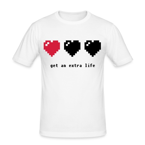 Shirt Extra life - Männer Slim Fit T-Shirt