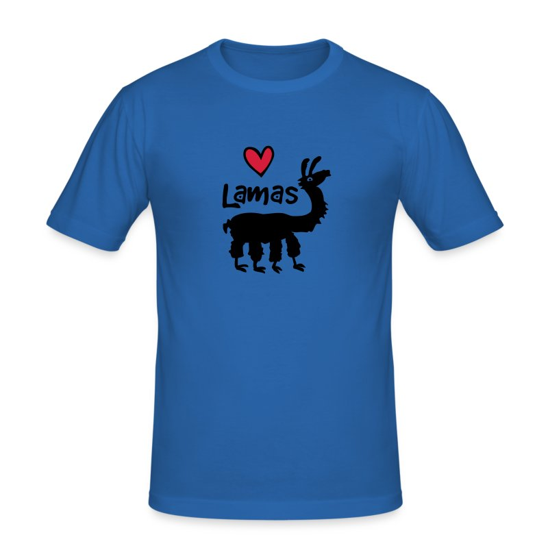 Lama :) - Männer Slim Fit T-Shirt