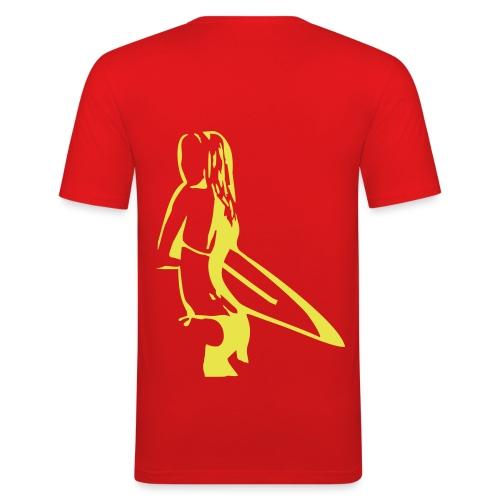 T-Shirt uomo surf - Maglietta aderente da uomo