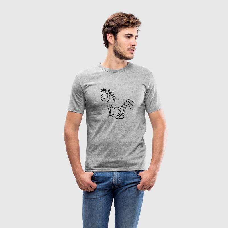 Horse - Stallion T-Shirts - Men's Slim Fit T-Shirt