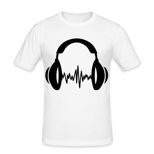 DJ HEADPHONES - Herre Slim Fit T-Shirt