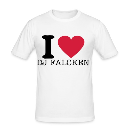 I LOVE DJ FALCKEN - Herre Slim Fit T-Shirt