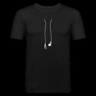 T-Shirts ~ Männer Slim Fit T-Shirt ~ iPod Kopfhörer HERREN