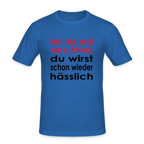 Spruchshirt - Männer Slim Fit T-Shirt