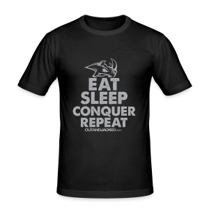 Eat sleep conquer repeat | Mens tee - Men's Slim Fit T-Shirt