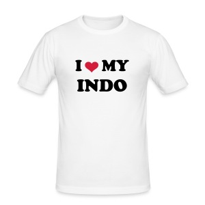 I LOVE MY INDO - Men's Slim Fit T-Shirt