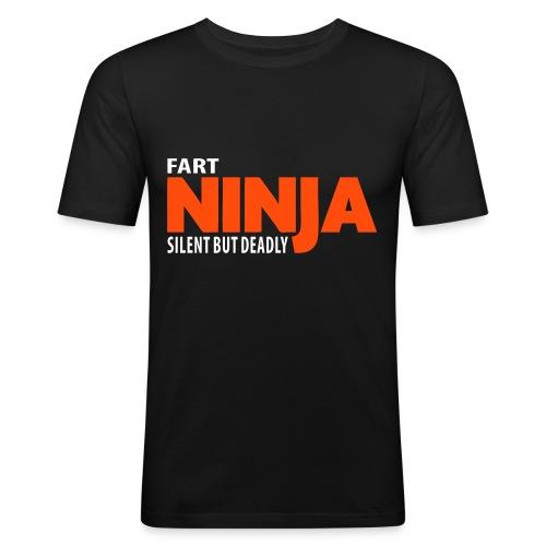 Ninja (Black) - Men's Slim Fit T-Shirt