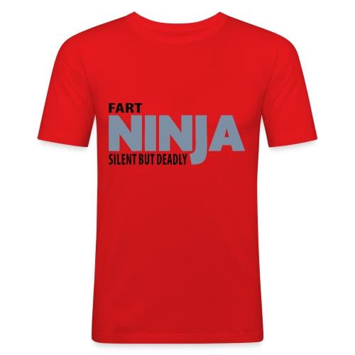 Ninja (Red) - Men's Slim Fit T-Shirt