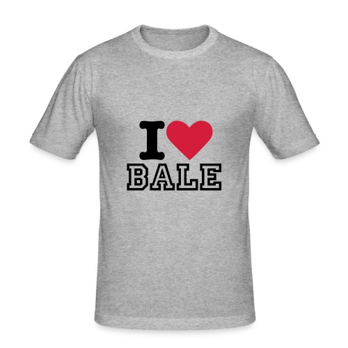 I Love Bale - Men's Slim Fit T-Shirt