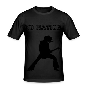 Camiseta No Nation amarillo/negro - Camiseta ajustada hombre