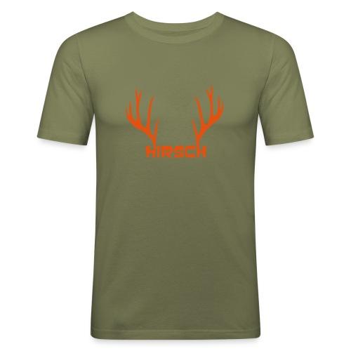 shirt t-shirt hirsch geweih hirschkopf elch hirschgeweih wald wild tier jäger jägerin jagd förster tiershirt shirt tiermotiv weihnachten rentier - Männer Slim Fit T-Shirt