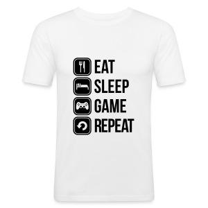 Eat Sleep Game Repeat - Men's Slim Fit T-Shirt