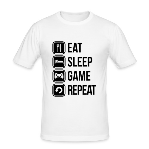 Eat Sleep Game Repeat - Men's Slim Fit T-Shirt