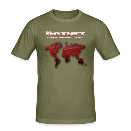 Botnet - Command and Control (Slim Fit) - Männer Slim Fit T-Shirt
