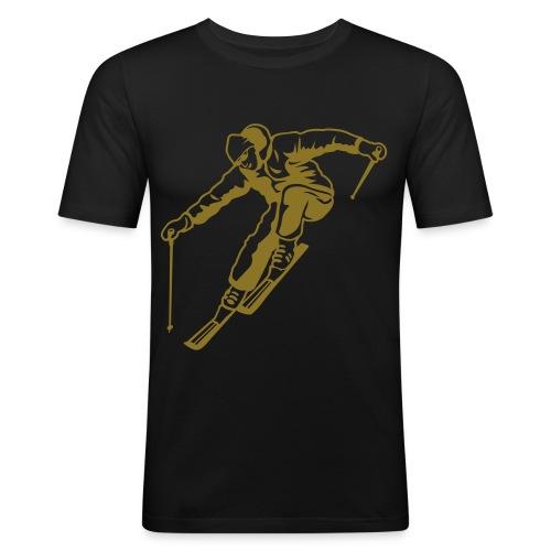 Masterfitness Skifahrer - Männer Slim Fit T-Shirt