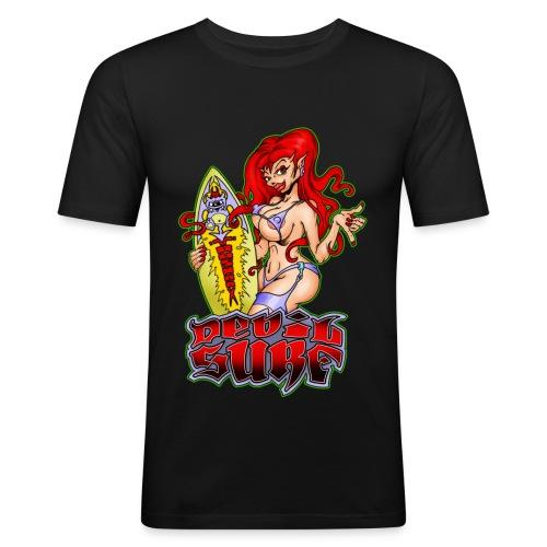 devil surf 1 - Männer Slim Fit T-Shirt