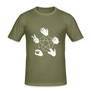 Rock-Paper-Scissors-Lizard-Spock - Men's Slim Fit T-Shirt