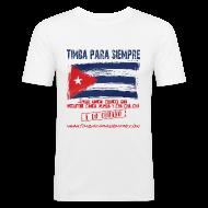T-Shirts ~ Men's Slim Fit T-Shirt ~ TimbaParaSiempre Slim Fit - White