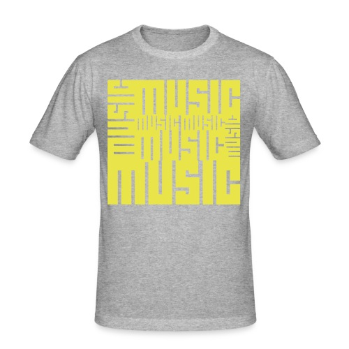 MUSIC MUSIC MUSIC MUSIC  - Männer Slim Fit T-Shirt