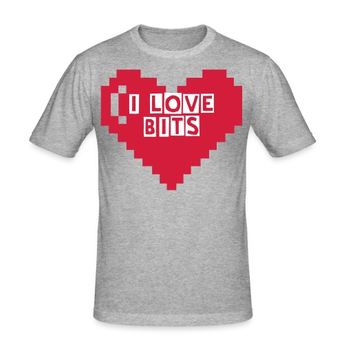 I LOVE BITS  - Männer Slim Fit T-Shirt