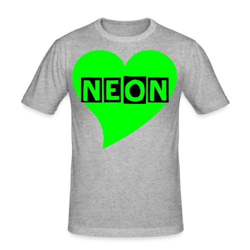 NEON LOVE GREEN - Männer Slim Fit T-Shirt