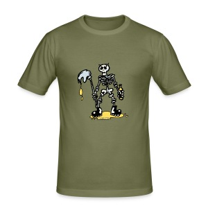 Camiseta ajustada hombre Skeleton - Camiseta ajustada hombre