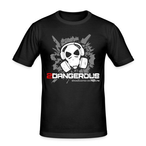 2 Dangerous Black - Men's Slim Fit T-Shirt