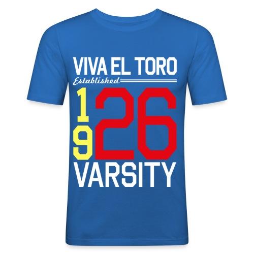 Viva El Toro! Varsity sulla maglietta blu - Maglietta aderente da uomo
