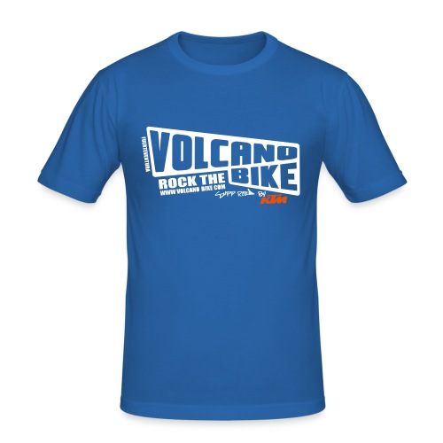 Volcano Bike Fuerteventura - Männer Slim Fit T-Shirt