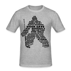 Ice Hockey Goalie Typography Men's Slim Fit T-Shirt   - Men's Slim Fit T-Shirt