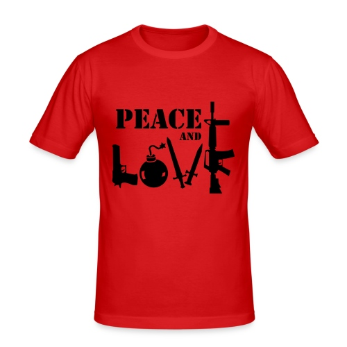 Peace and love - T-shirt près du corps Homme
