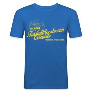 Männer Retro Style blau - Rundhals - Männer Slim Fit T-Shirt