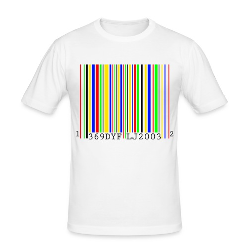 Rainbow barcode - Men's Slim Fit T-Shirt