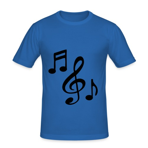 MUSICAL NOTES skinny fit tee - Men's Slim Fit T-Shirt