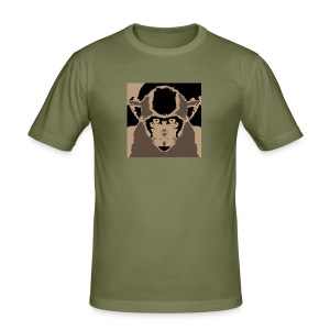Staring Monkey - Men's Slim Fit T-Shirt