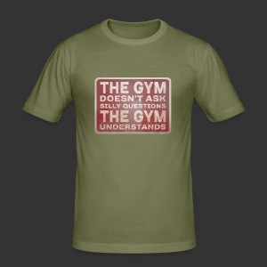 The Gym Understands [Men] - Men's Slim Fit T-Shirt