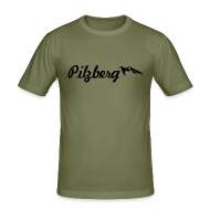 T-Shirts ~ Männer Slim Fit T-Shirt ~ Pilzberg (schwarzer Druck)