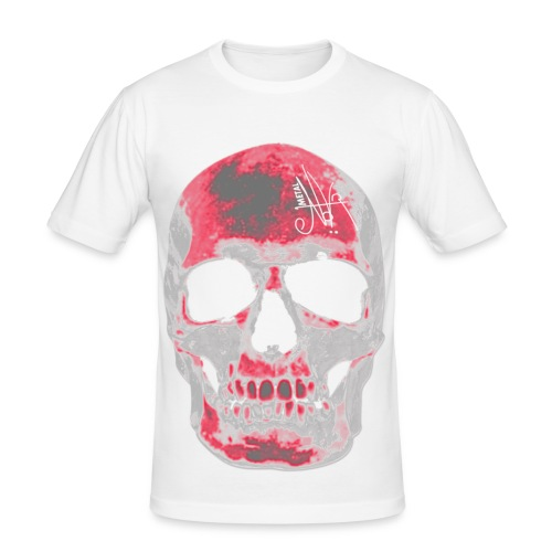 skull degrade - T-shirt près du corps Homme